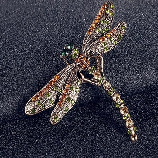 Other Vintage inspired Dragonfly Crystal Scarf Pin/ Brooch Image 3