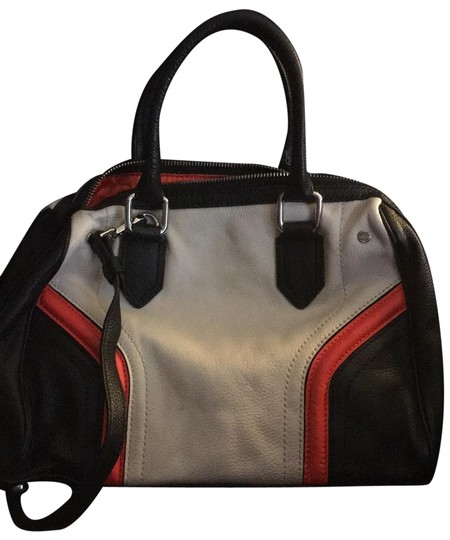 Preload https://img-static.tradesy.com/item/25576863/milly-zoey-colorblock-black-orange-and-sand-color-leather-satchel-0-1-540-540.jpg