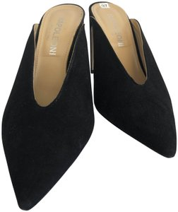 NAPOLEONI Italy Suede Leather Pointed Toe Black Pumps