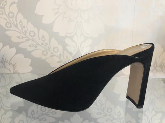 NAPOLEONI Italy Suede Leather Pointed Toe Black Pumps Image 3