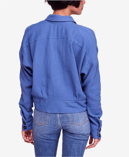 Free People Button Down Shirt Blue Image 2