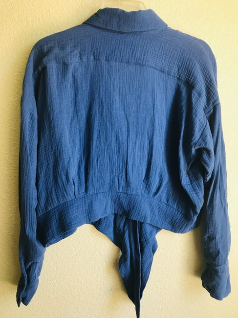 Free People Button Down Shirt Blue Image 4