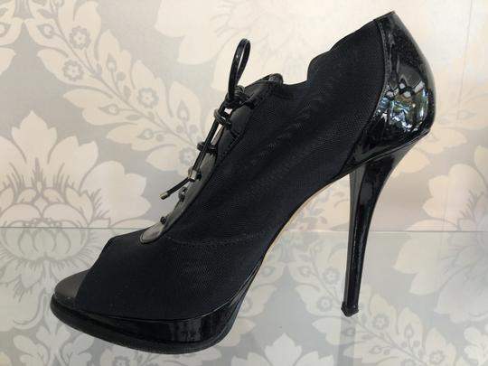 Dior Italy Patent Lace Black Boots Image 4