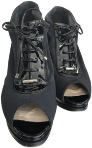 Dior Italy Patent Lace Black Boots