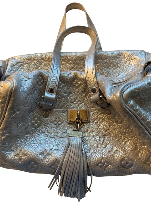 Item - Limited Edition Comete Silver Leather Satchel