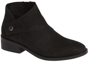 Eileen Fisher Suede Ankle Black Nubuck Boots