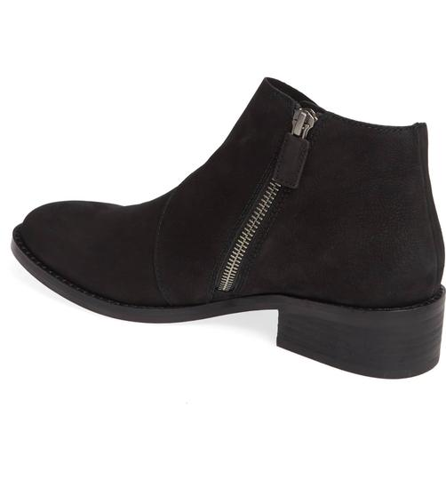 Eileen Fisher Suede Ankle Black Nubuck Boots Image 2