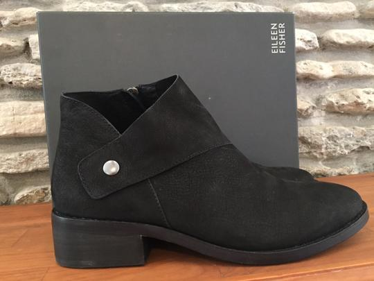 Eileen Fisher Suede Ankle Black Nubuck Boots Image 3