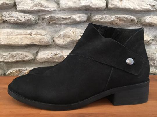 Eileen Fisher Suede Ankle Black Nubuck Boots Image 4