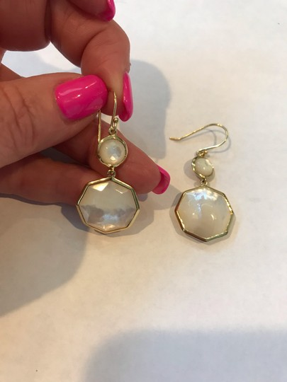 Ippolita Ippolita 18KT Yellow Gold Octagon Mobey Pearl Rock Candy Drop Earrings Image 3