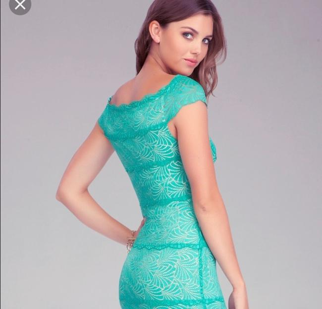 turquoise Maxi Dress by bebe Image 1