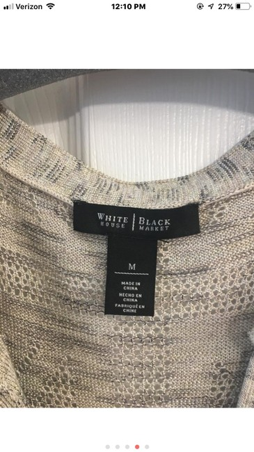 White House | Black Market Top tan and gold Image 2