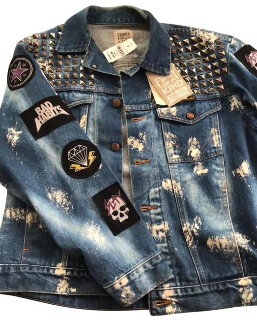 Preload https://img-static.tradesy.com/item/25577195/lf-blue-demin-stone-wash-furst-of-a-kind-vintage-jacket-size-os-one-size-0-1-650-650.jpg