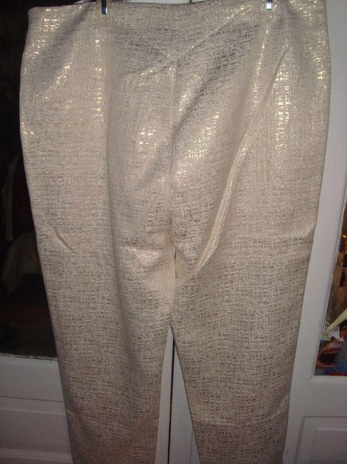Spiegel Straight Pants BEIGE AND GOLD