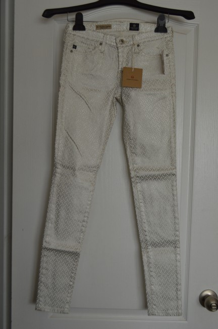 AG Adriano Goldschmied Skinny Pants Off White Combo Image 1