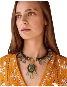 Tory Burch new with tag oxidized metal collar necklace