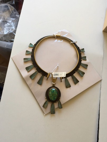 Tory Burch new with tag oxidized metal collar necklace Image 2