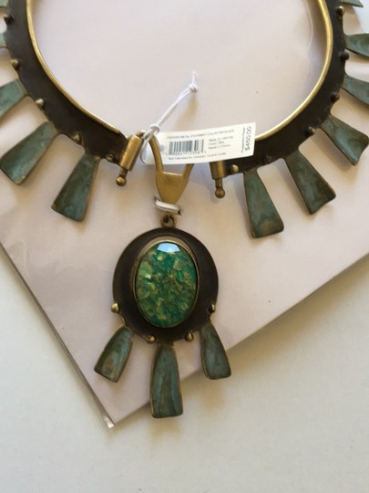 Tory Burch new with tag oxidized metal collar necklace Image 3