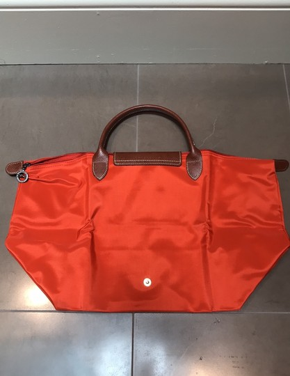 Longchamp Orange Travel Bag Image 1
