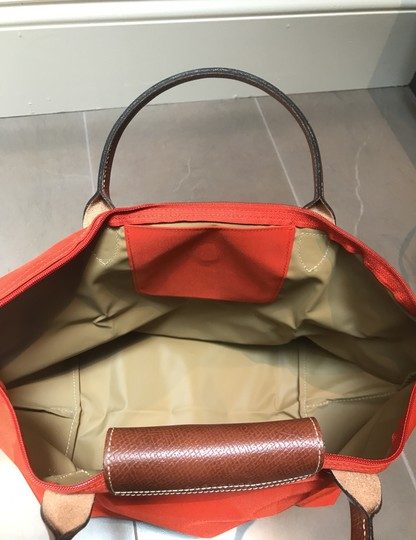 Longchamp Orange Travel Bag Image 2