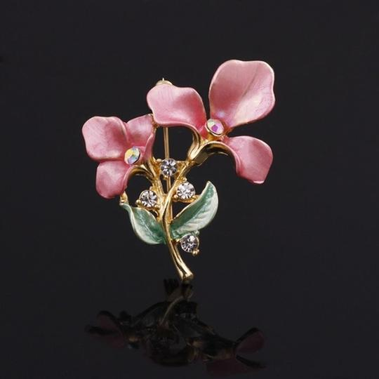 Other Lovely pink Flower Brooch Image 1