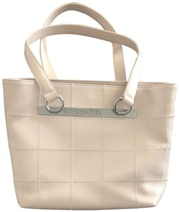 Chanel Vintage Caviar Leather Summer Tote in Pale Pink