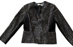 Tory Burch leopard print Leather Jacket