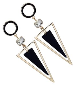 Other Exaggerated Crystal Triangle long Earrings