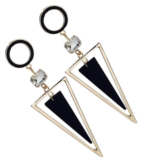 Preload https://img-static.tradesy.com/item/25577385/gold-exaggerated-crystal-triangle-long-earrings-0-1-540-540.jpg