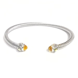 David Yurman BEAUTIFUL!! LIKE NEW CONDITION!! David Yurman 18 Karat Yellow Gold and Sterling Silver David Yurman Citrine Renaissance Cable Bracelet Cuff