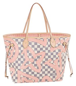 Louis Vuitton Shoulder Limited Edition New Tote in Rose Ballerine / Pink / Beige