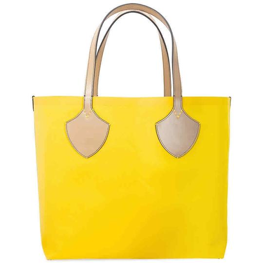Burberry Reversible Tote in Yellow / Vintage Check Image 2