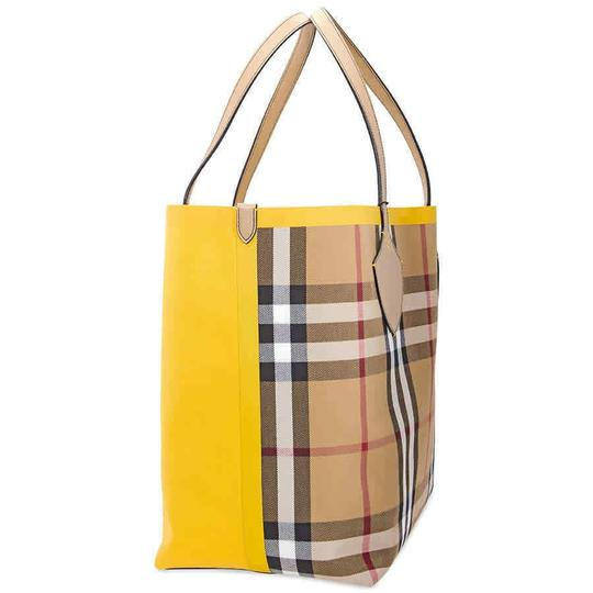 Burberry Reversible Tote in Yellow / Vintage Check Image 3