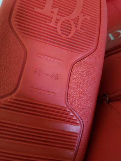 Dior Diorissimo Monogram Logo Embroidered Red Boots Image 10