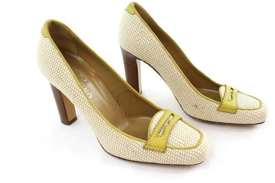 Valentino White And Green Pumps Image 1