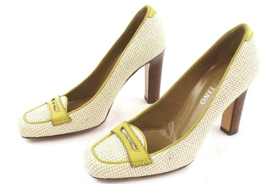 Valentino White And Green Pumps Image 2