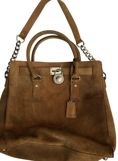 Preload https://img-static.tradesy.com/item/25577524/michael-michael-kors-tote-brown-suede-leather-satchel-0-1-540-540.jpg