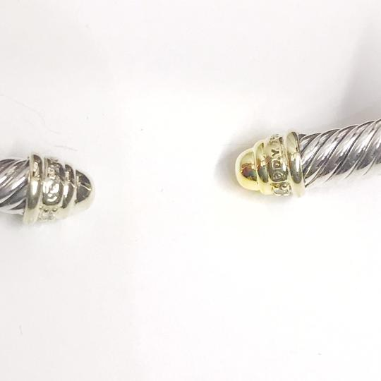 David Yurman ELEGANT!! LIKE NEW CONDITION!!! David Yurman 18 Karat Yellow Gold, Sterling Silver and Diamond Cable Cuff Bracelet Image 1