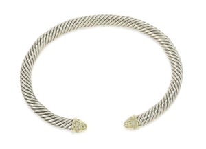 David Yurman Cable Classics Bracelet with Diamonds and 18K Gold 5mm