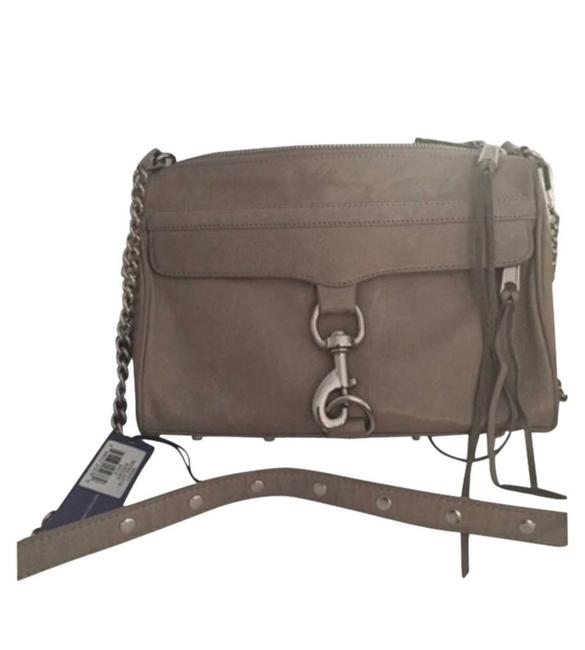 Item - Mac Taupe with Silver Hardware Leather Cross Body Bag