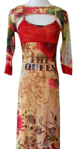 Red-Multi Maxi Dress by Save The Queen