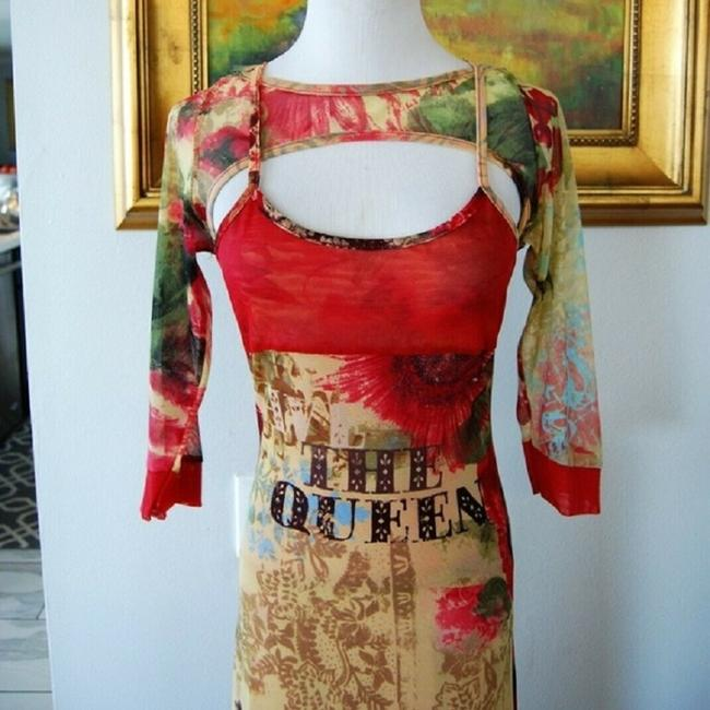 Red-Multi Maxi Dress by Save The Queen Image 2