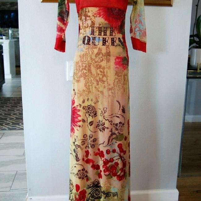 Red-Multi Maxi Dress by Save The Queen Image 4
