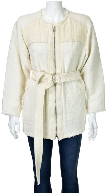 Preload https://img-static.tradesy.com/item/25577650/iro-ivory-thick-cotton-maya-with-frayed-edges-belted-blazer-size-8-m-0-1-650-650.jpg