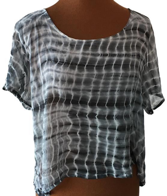 Preload https://img-static.tradesy.com/item/25577652/black-and-white-never-worn-sheer-smear-tee-coal-small-blouse-size-6-s-0-1-650-650.jpg
