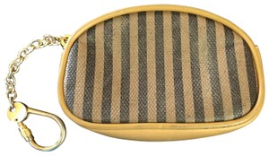 Fendi Vintage Fendi Coated Canvas and Leather Coin/Card case with Keychain