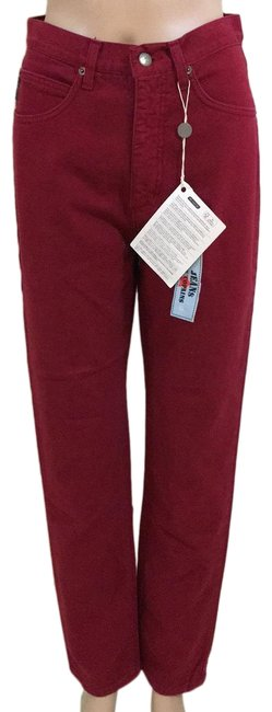 Item - Red Straight Leg Jeans Size 2 (XS, 26)