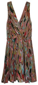 Lavender Brown short dress Bright Feather on Tradesy