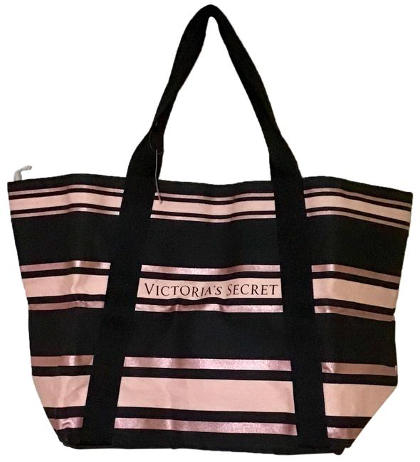 Item - Black and Pink Cotton Tote