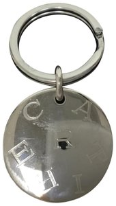 Cartier Silver initial round key ring